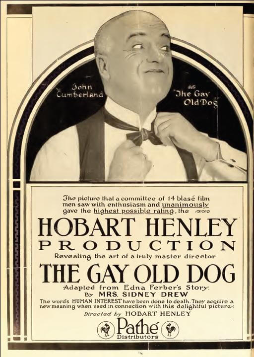 An illustration for the story The Gay Old Dog by the author Edna Ferber