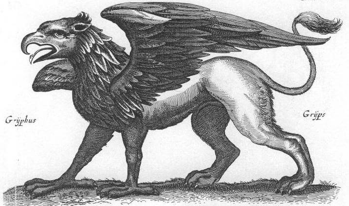 An illustration for the story The Griffin and the Minor Canon by the author Frank Stockton