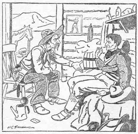 An illustration for the story The Hand that Riles the World by the author O. Henry