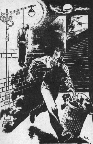 An illustration for the story The Hanging Stranger by the author Philip K. Dick