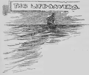 An illustration for the story The Life-Savers by the author Walter McRoberts