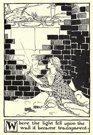 An illustration for the story The Little Match Girl by the author Hans Christian Andersen