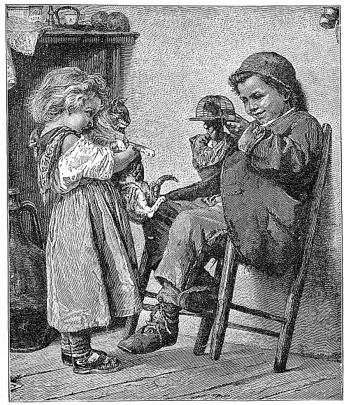 An illustration for the story The Little Thief in the Pantry by the author Anonymous