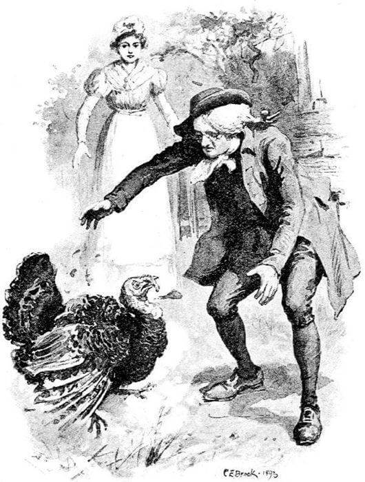 An illustration for the story The Minister's Wooing by the author Harriet Beecher Stowe
