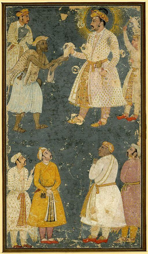 The Monkey's Paw: Fakir giving a petition to Emperor Jahangir, 1605