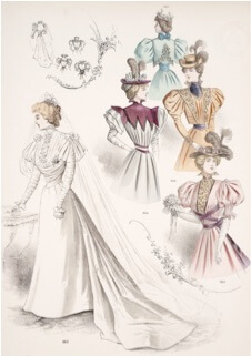The Necklace Study Guide: 1890s dress fashions