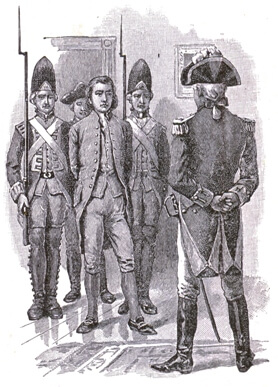 An illustration for the story The Patriot Spy by the author Albert F. Blaisdell