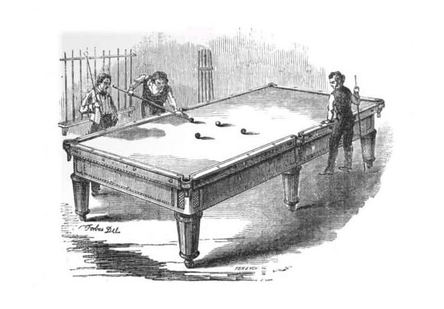 An illustration for the story The Pendulum by the author O. Henry