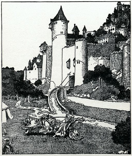 An illustration for the story The Prisoner of Zembla by the author O. Henry