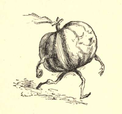 An illustration for the story The Pumpkin-Glory by the author William Dean Howells
