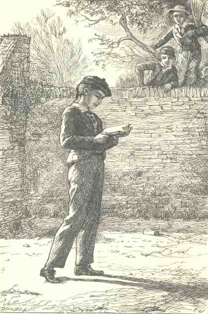 An illustration for the story The Schoolboy's Story by the author Charles Dickens
