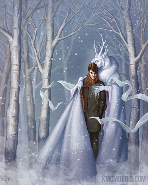 An illustration for the story The Snow Queen by the author Hans Christian Andersen
