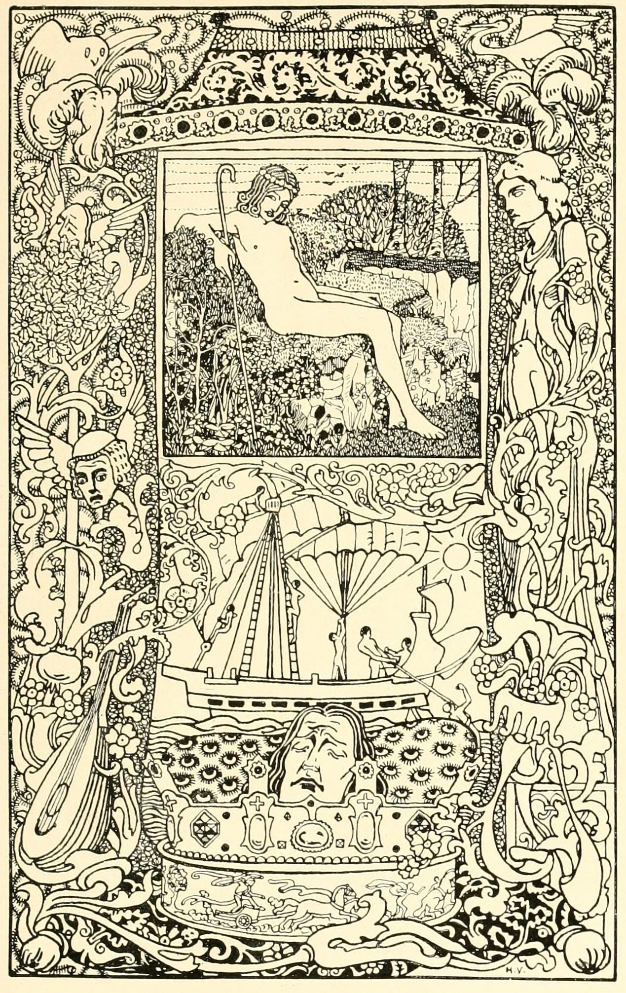 An illustration for the story The Star-Child by the author Oscar Wilde