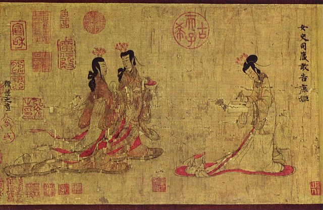 An illustration for the story The Story of Ming-Y by the author Lafcadio Hearn