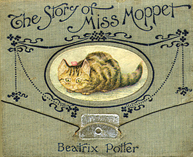 An illustration for the story The Story of Miss Moppet by the author Beatrix Potter