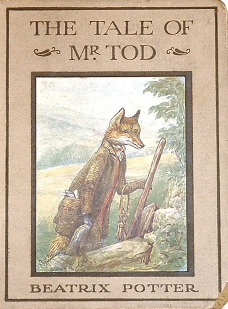 An illustration for the story The Tale of Mr. Tod by the author Beatrix Potter