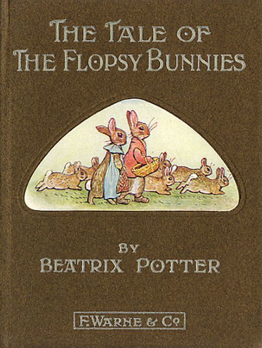 An illustration for the story The Tale of the Flopsy Bunnies by the author Beatrix Potter