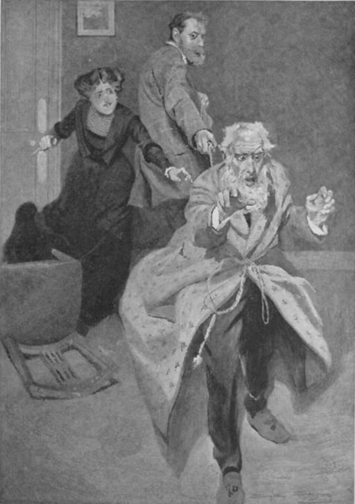 An illustration for the story The Three Tools of Death by the author G.K. Chesterton