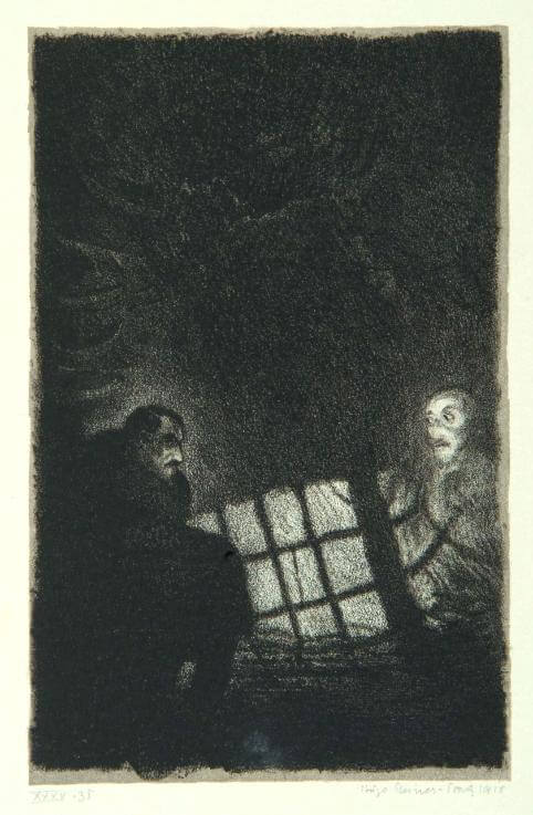 An illustration for the story The Transferred Ghost by the author Frank Stockton