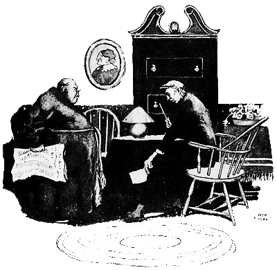 illustration for Ellis Parker Butler's short story The Un-Burglars