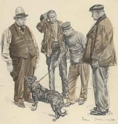 An illustration for the story The Understudy by the author W. W. Jacobs