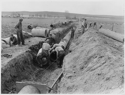 The Watchman, Marsing, Idaho irrigation pipe, 1941