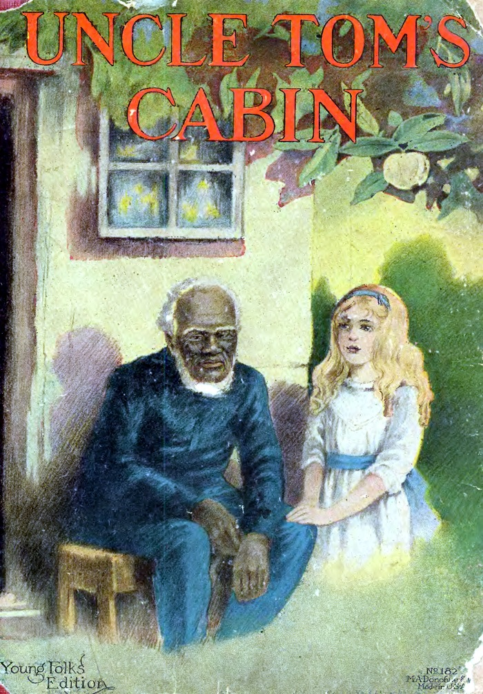 An illustration for the story Uncle Tom's Cabin, Young Folks' Edition by the author Harriet Beecher Stowe