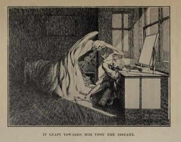 illustration for Oh, Whistle, and I'll Come to You My Lad a anitquarian ghost Story by Montague Rhodes James