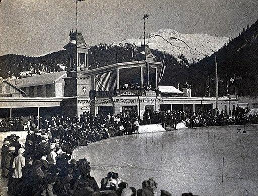 Winter Sport, ski rink in Davos, 1915