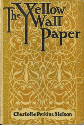 An illustration for the story The Yellow Wallpaper by the author Charlotte Perkins Gilman