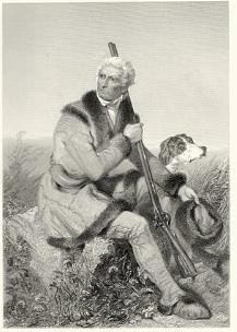 Daniel Boone portrait by Alonzo Chappel, 1861