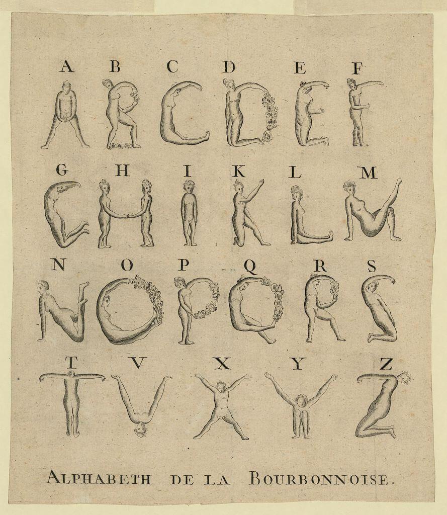 Human Alphabet, 1789t